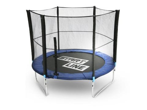 Батут StartLine Fitness 10 футов (Global) с внутренней сеткой, и пластик.лестницей