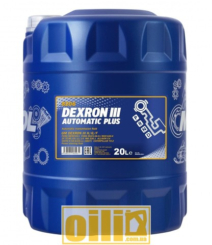 Mannol 8206 DEXRON III AUTOMATIC PLUS 20л