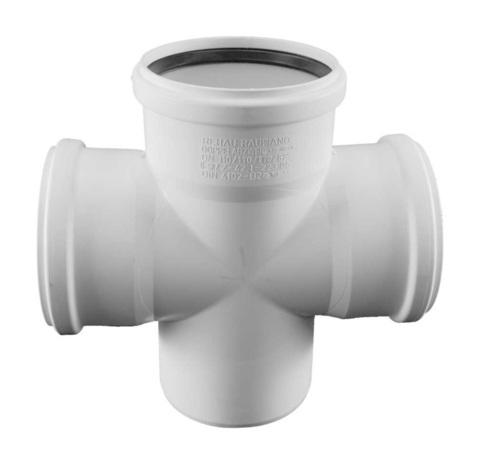 Rehau Raupiano Plus 110/110/110/87° крестовина для канализационных труб (11215541001)