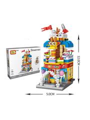 Конструктор LOZ mini Магазин игрушек 414 деталей NO. 1643 Toy Store MiniBlock