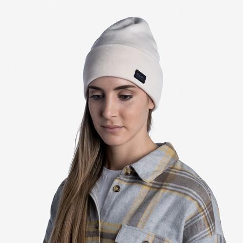Вязаная шапка Buff Hat Knitted Niels Cru фото 2