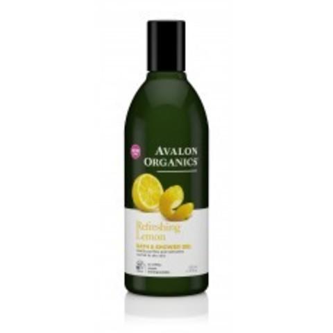 Avalon Organics Bath & Shower: Увлажняющий гель для ванны и душа с маслом лимона (Lemon Bath & Shower Gel), 355мл