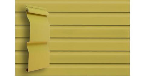 """Виниловый сайдинг Гранд Лайн корабельная доска 3.6 D 4,4"""" кремовый"""