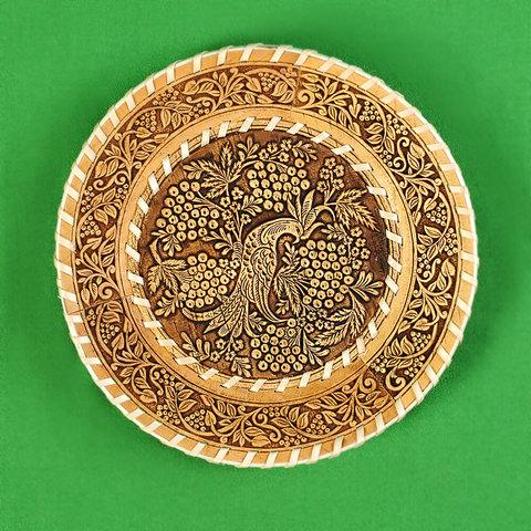 Тарелка круглая Рябинка