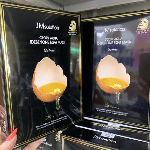 JMsolution glory aqua idebenone egg Mask 10pc