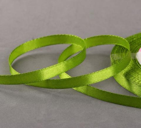 Лента атласная,цвет зелёный,6мм*23±1м