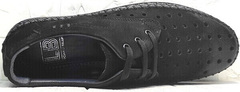 Кожаные мокасины мужские летние smart casual Luciano Bellini 91754-S-315 All Black.