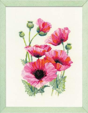 Набор для вышивания крестом «Розовые маки» (1775)