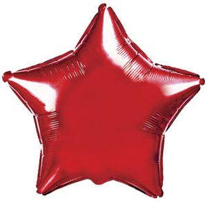 Фольгированный шар Звезда Red 18