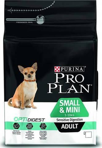 7 кг. PURINA PRO PLAN Сухой корм для собак мелких и карликовых пород с чувствительным пищеварением с ягненком и рисом Adult Small&Mini Sensitive Digestion