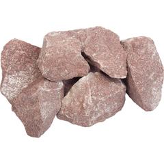 Камень «Кварцит» малиновый, колотый, в коробке 20 кг