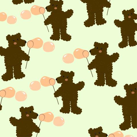 Детский паттерн с мишками