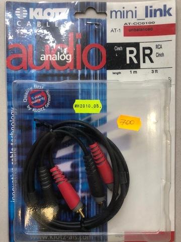KLOTZ AT-CC0100 - Соединительный аудио кабель RC204