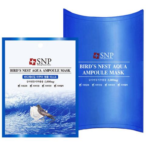 SNP Тканевые маски для лица с экстрактом гнезда ласточки Bird's Nest Aqua Ampoule Mask, 10шт
