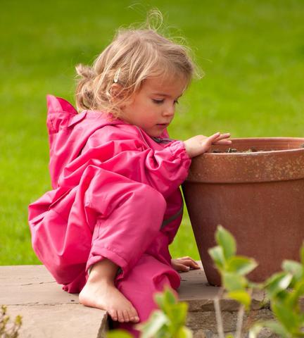 Непромокаемый комбинезон для детей розовый