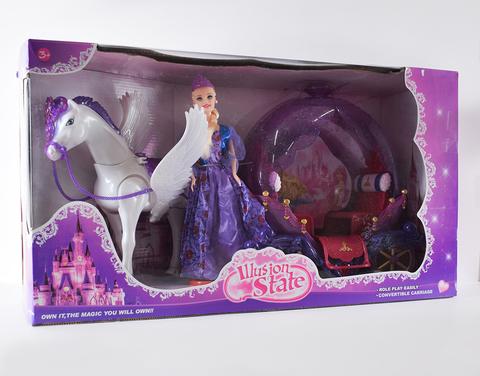 Кукла + лошадь + карета тыква