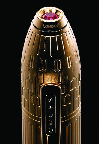 Cross Peerless Citizen LE London - Rolled Gold, шариковая ручка, M123