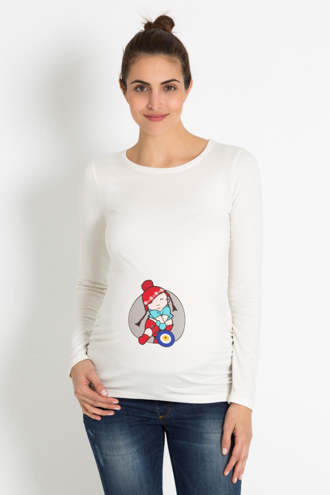 Лонгслив для беременных 07909 бежевый