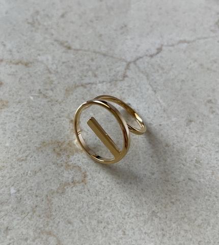 Кольцо Пунто, позолота