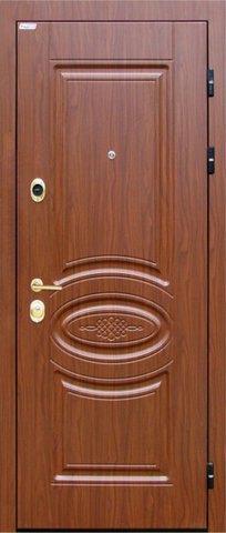 Дверь входная Интекрон Император стальная, тисненый орех, 2 замка