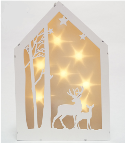 Декорация-домик рождественский Олени