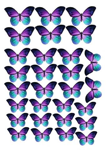 Печать на вафельной бумаге, Набор Бабочки 7