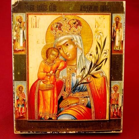 Икона Божией Матери Неувядаемый Цвет на дереве на левкасе мастерская Иконный Дом