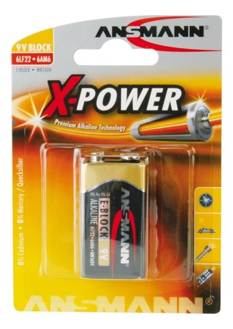 Батарейка ANSMANN X-Power E Крона (9V) - 1 шт.