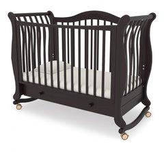 Кровать детская Габриэлла колесо-качалка,ящик махагон
