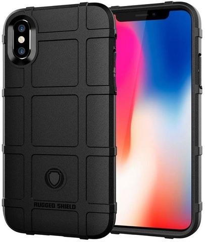 Чехол для iPhone X (XS) цвет Black (черный), серия Armor от Caseport
