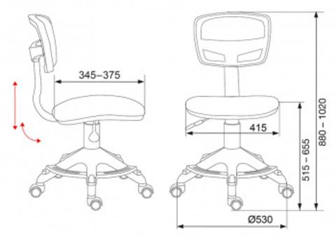 CH-299-F Кресло детское (Бюрократ)