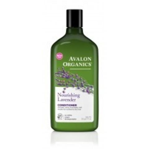 Avalon Organics Conditioner: Кондиционер для волос с маслом лаванды (Lavender Nourishing Conditioner), 312г