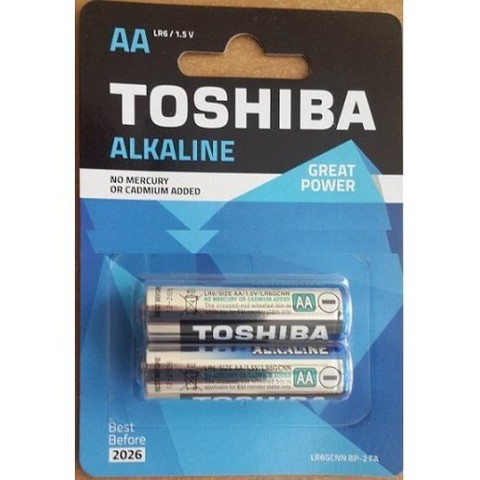 Батарейки Toshiba Alkaline LR6, AA (2/24) BL