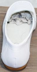 Мокасины женские кожаные AESD 902 White