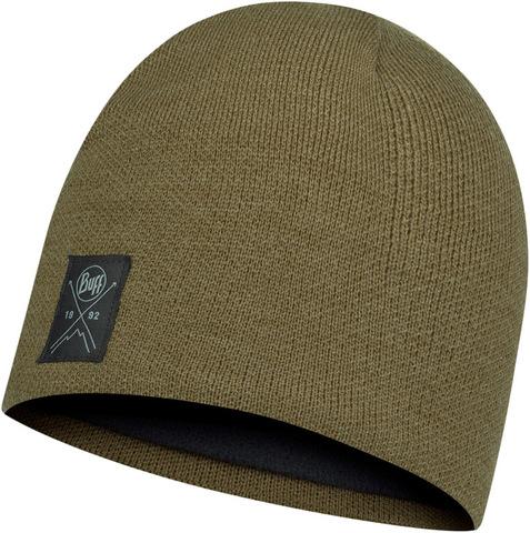 Шапка вязаная с флисом Buff Hat Knitted Polar Solid Bark фото 1