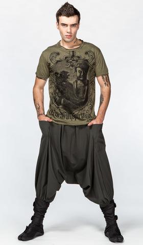 Мужская тайская футболка Медитирующий Будда