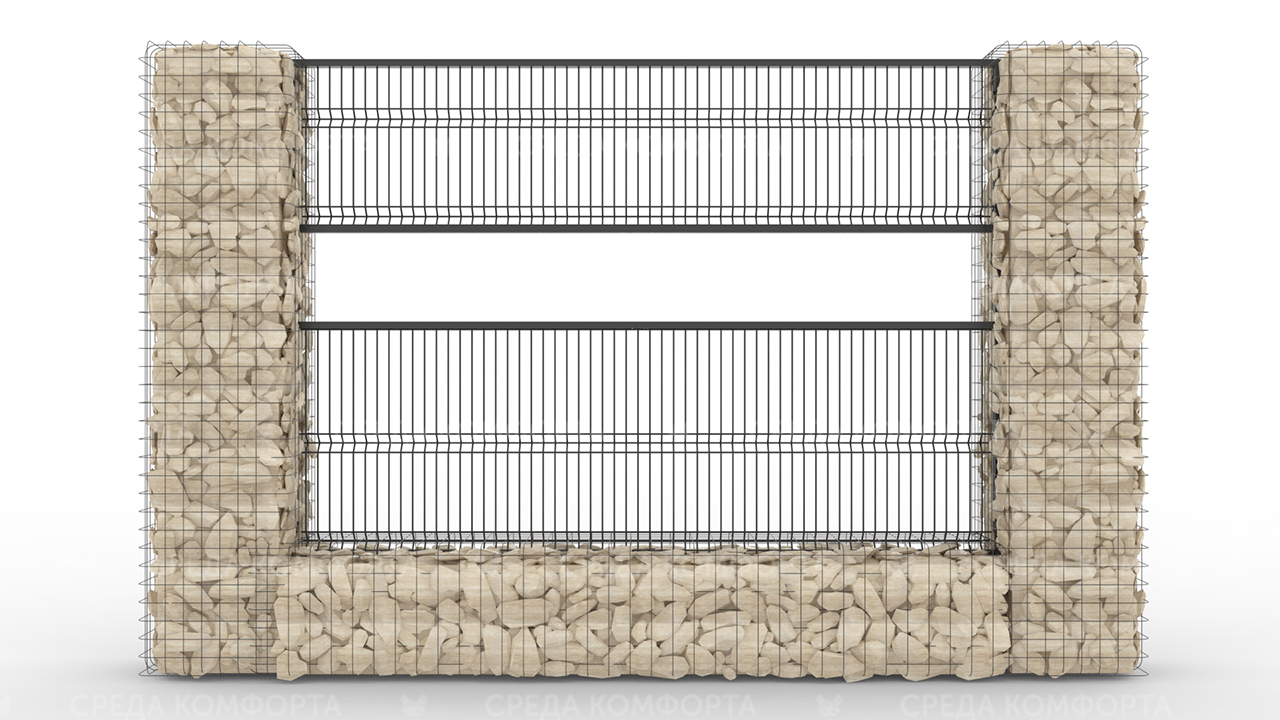 Забор 3Д ZBR0071