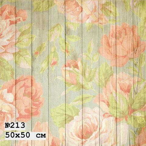 Фотофон виниловый «Цветы на доске» №213