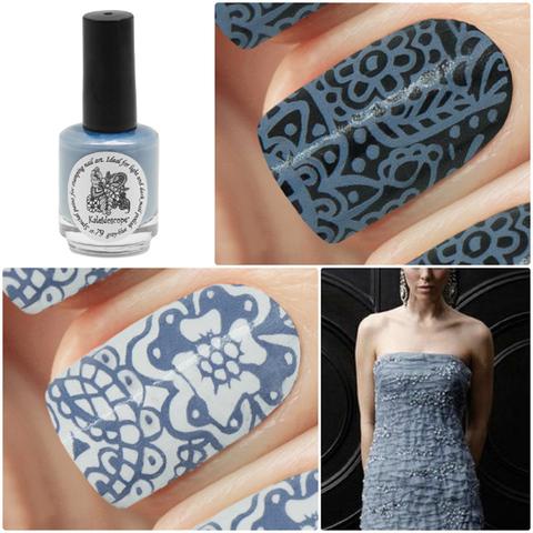 Kaleidoscope Лак для стемпинга №st-79 Gray-blue 15 мл