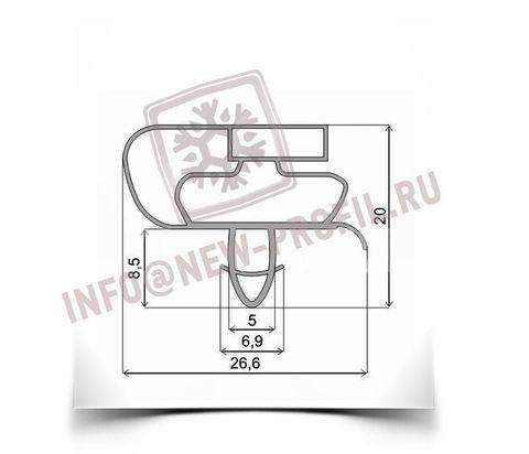 Уплотнитель для холодильника Атлант ХМ-6224-180 м.к. 700*640 мм по пазу (021)