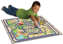 Игровой набор с 5 паровозиками и картой (Чаггингтон, LC54501)