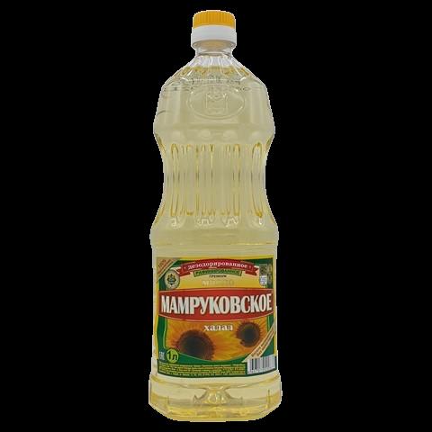 Масло подсолнечное рафинированное МАМРУКОВСКОЕ, 1 л