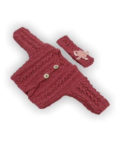 Вязаная кофта - Розовый 1. Одежда для кукол, пупсов и мягких игрушек.