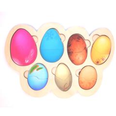 Вкладыши для самых маленьких Кто в яйце ToySib 02010