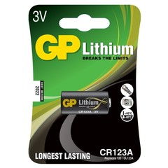 Батарейки фото GP CR123(A) U-1 Lithium DL123А, 3V