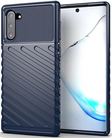 Чехол Samsung Galaxy Note 10 цвет Blue (синий), серия Onyx, Caseport
