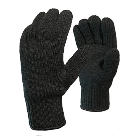 Перчатки акриловые одинарные черные