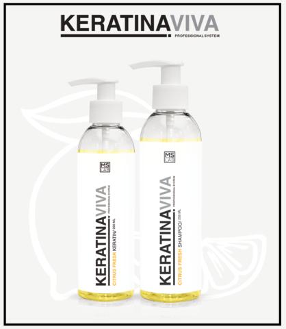 Кератиновое восстановление волос  KERATINA CITRUS VIVA  SINGULAR CARE,