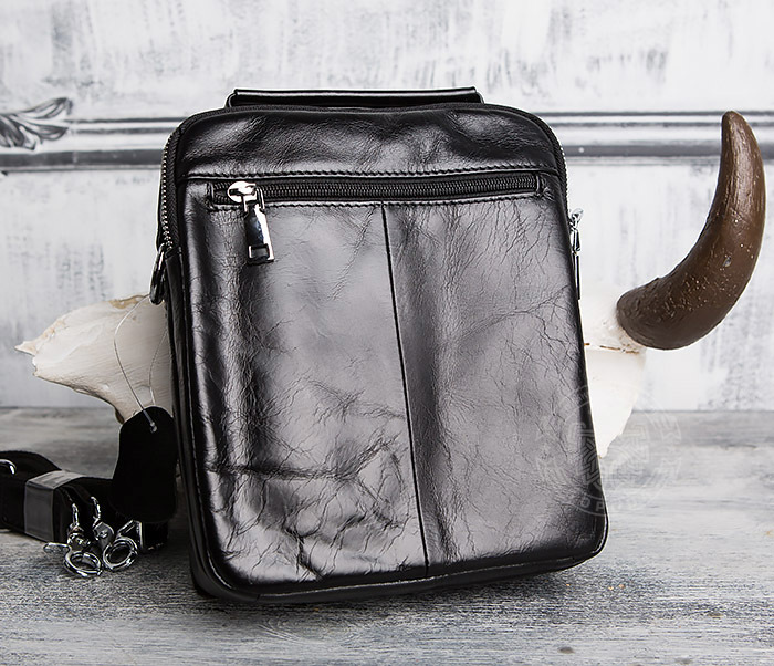 BAG413-1 Мужская сумка из натуральной кожи с ремнем и ручкой фото 04