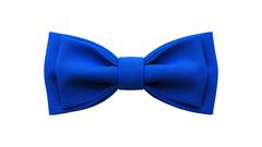 Однотонный галстук - бабочка (синий)